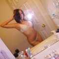 Selfshot pics - cute teen showing tits in bathroom