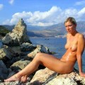 German girl and her Turkish holiday ( Nudist pics  - 1