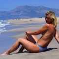 German girl and her Turkish holiday ( Nudist pics  - 18