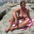 Busty milf nude on vacation