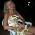 A hot blond wife on vacation