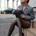 Girl in black pantyhose