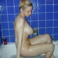 Sweet girlfriend naked in bathroom