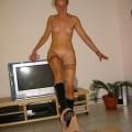 Meine Freundin Sabrina Zuhause beim Stripteas
