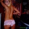 Horny blonde hottie masturbates