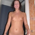 Sexy amateur brunette naked girlfirend
