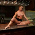 Nice young girlfriend naked on the bar