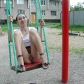 Girlfriend naked at playground