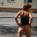 Brave sexy polish girl in public