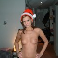 Sexy girl and her christmas photos