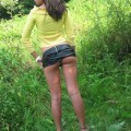 Amateur girlfriend without underwear
