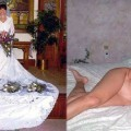 Dressed - undressed wedding photos