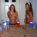 Young and drunk teenagers girls at party m50