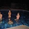 3 amateurs - naked pool party - skinny dipping