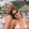 9 girls group shot topless - stolen nude vacation