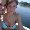Naked girlfriend on the boat