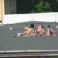 Spycam - nude girls on the roof