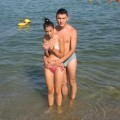 Young couples at holiday ( topless pics )