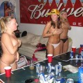 Young drunk girls at student party 29