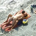 Beach voyeur - couples having fun fuck