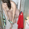 Bernadette shower blow job wet t shirt
