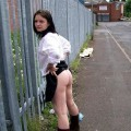 Pixxie little titted outdoor nude on industrial estate