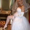 Russian brides pose