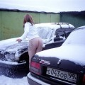 Russian amateur girl serie 282 - on snow