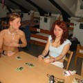 Hot teens from sweden playing strip-poker