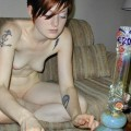 Stoner chicks hittin the bong naked