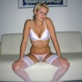 Claudia - amateur blonde in lingerie
