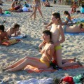 Russian and Ukrainian girls on beach Kazantip - 71