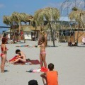 Russian and Ukrainian girls on beach Kazantip - 85