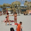 Russian and Ukrainian girls on beach Kazantip - 108