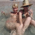 Russian and Ukrainian girls on beach Kazantip - 112