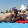 Russian and Ukrainian girls on beach Kazantip - 100