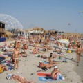 Russian and Ukrainian girls on beach Kazantip - 15