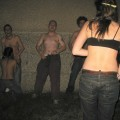 Girls give blowjobs on crazy college party