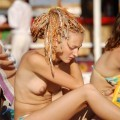 Russian and Ukrainian girls on beach Kazantip - 55