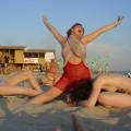 Russian and Ukrainian girls on beach Kazantip - 61