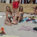 Russian and Ukrainian girls on beach Kazantip - 110