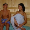 Pikotop - young brunette fucking hard in sauna
