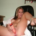 Horny girlfriend with her sextoy