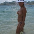 A beauty on holiday - nude beach