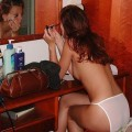 Young wife doing housework