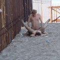 Couple fucking at nude beach