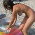 Rody en la playa - naked girlfriend on the beach