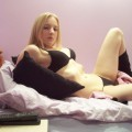 Dirty blonde teen bares all