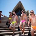 Swimwear parade in australia