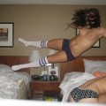 Wow - crazy naked jumping girls